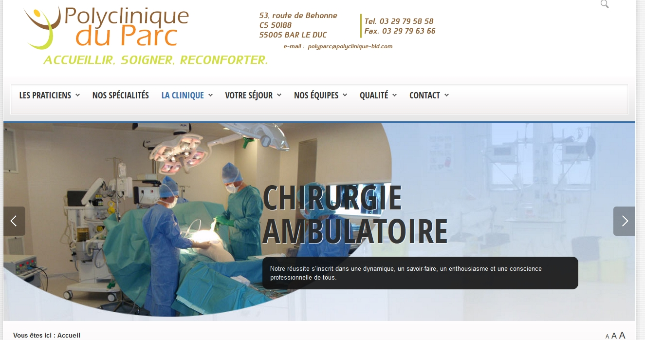 Le site de la Polyclinique du Parc à Bar-le Duc